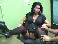 Leggy brunette skank Kendra Secrets gets fucked in the office