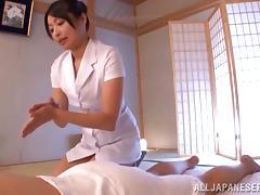 Massage, Amateur, Asian, Blowjob, Brunette, Couple