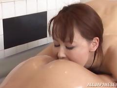 Impressive Japanese MILF Minami Kojima massages horny guy