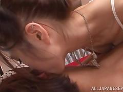 Arisa Aizawa naughty Asian babe gets a hard fuckling creampie