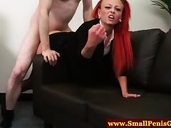 CFNM mistress giving a sympathy fuck