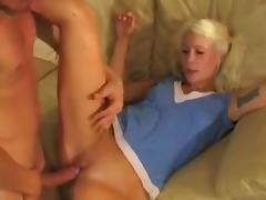 Hawt German Golden-Haired Legal Age Teenager Non-Professional double penetration Trio