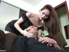Babe with a Foot Fetish Gives a Footjob Then Fucks