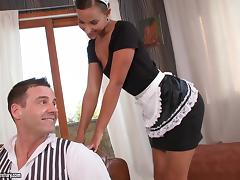 Sexy Maid Does Anal and Milks Him Dry