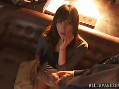 Sexy Japanese Gives A Yummy Blowjob And Gets Nailed
