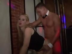Crazy party in the night club turns intro group orgy