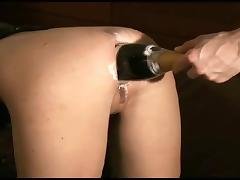 Bottle, Ass, Beauty, Bottle, Champagne, Gaping