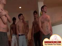 Gay dude taking big shafts at orgy