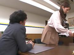 Hot teacher blows cock and gets fucked Hina Akiyoshi
