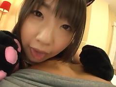 Tsubomi amazing Asian teen in sexy costume gets banged