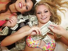 bikini babes bank heist goes perfectly