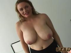 Emily Anderson is facialized in POV after titty fucking a guy c