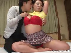 Nasty mature Asian babe gets a hard doggy style fuck