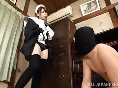 Busty Japanese Maid Gets A Hot Titty Fuck