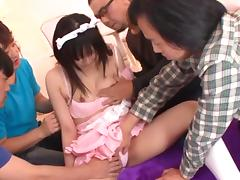 Yuyu Nekomura Creampied In Group Sex In Her Maid Outfit