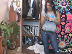Jeans, Blowjob, Brunette, Doggystyle, Jeans, Reality