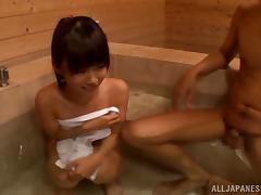 Skinny Japanese Teen Gets Fucked In A Sauna