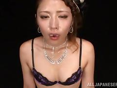 Japanese, Asian, Blowjob, Bra, Couple, Cum in Mouth