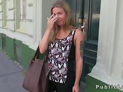 Czech blonde amateur fucked in park pov hard