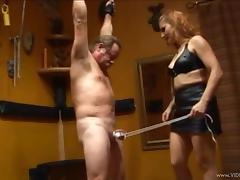 Slaved Handome Guy Gets Tortured In A BDSM Sex Indoors