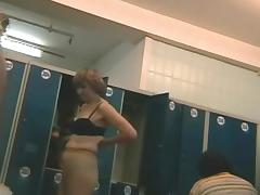 Voyeur scene with a nice fat mature