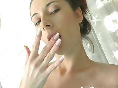 Wet, Big Tits, Boobs, Brunette, Close Up, Fingering