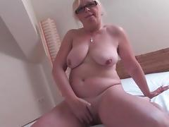 Old, Aged, Cunt, Glasses, Hairy, Masturbation