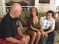 Kylee King gets fucked and facialed in the presence of two voyeurs