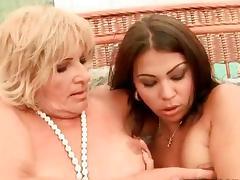 Grandma, Compilation, Granny, Kissing, Lesbian, Lick