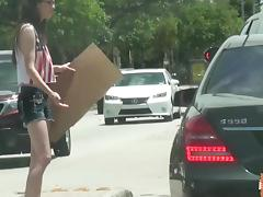 Tali Dava gets picked up and fucked by a stranger after getting stranded