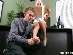 Office, Big Cock, Big Tits, Blonde, Blowjob, Boss