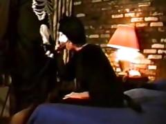 Halloween Sex Party White Masked Mamma Blows Darksome Masked Fella