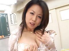 Miki Sato Asian doll is a sweet teacher enjoying her students