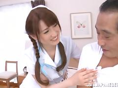 Full Service Asian Nurse Sucks and Fucks Her Lucky Patient