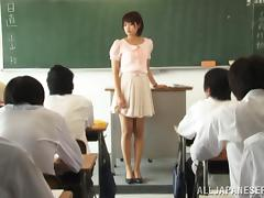 Charming Teacher In Panties Gets A Facial Cumshot Indoors