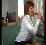 RedHead Granny Happy For  Huge Cock