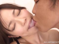Arousing Miki Yoshimura in hardcore threesome