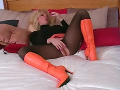 Pantyhose, Blonde, Boots, Nylon, Pantyhose, Shoes
