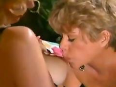 Vintage Mature, Blonde, Lesbian, Lick, Mature, Old