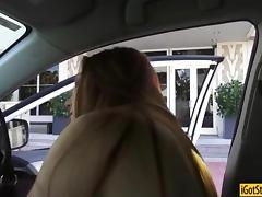 Redhead teen Farrah Flower pounded by stranger in public