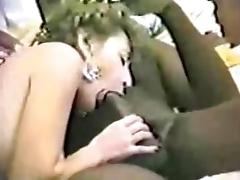 Vintage Interracial Cuckold Movie Scene White Whore Engulfing BBC