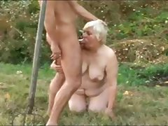BBW GRANNY WITH FAT ASS GET FUCKED BY DEVIL MASKED MAN