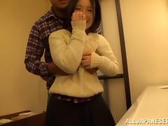 Lovely Asian Teen In Bra Loves Hardcore Blowjob On Cumshot