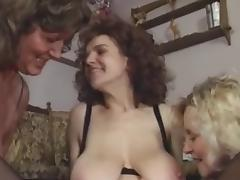 3 Young Guys Fuck 3 Old Ladies Orgy