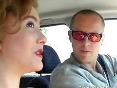pickup german redhead for a ride