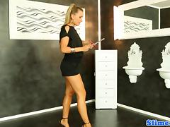 Pornstar Nessy in splash sperm party at gloryhole