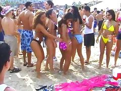 Hot Babes In Bikini Get Wild In Outdoor Beach Party