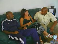Extreme hardcore black threesome action