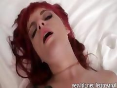 Emo redhead girlfriend anal tryout and facial jizzed at home