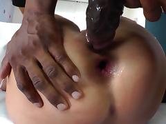 Jessica Nyx gets her ass toyed and fucked deep by a black guy